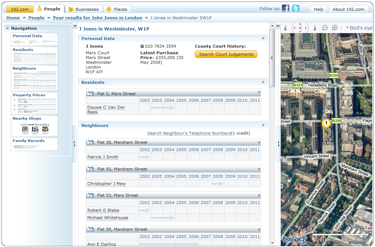 192.com residential details page