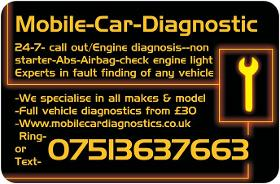 Mobile Car Diagnostics- Mechanic- Auto Electrician- Breakdown Recovery Service